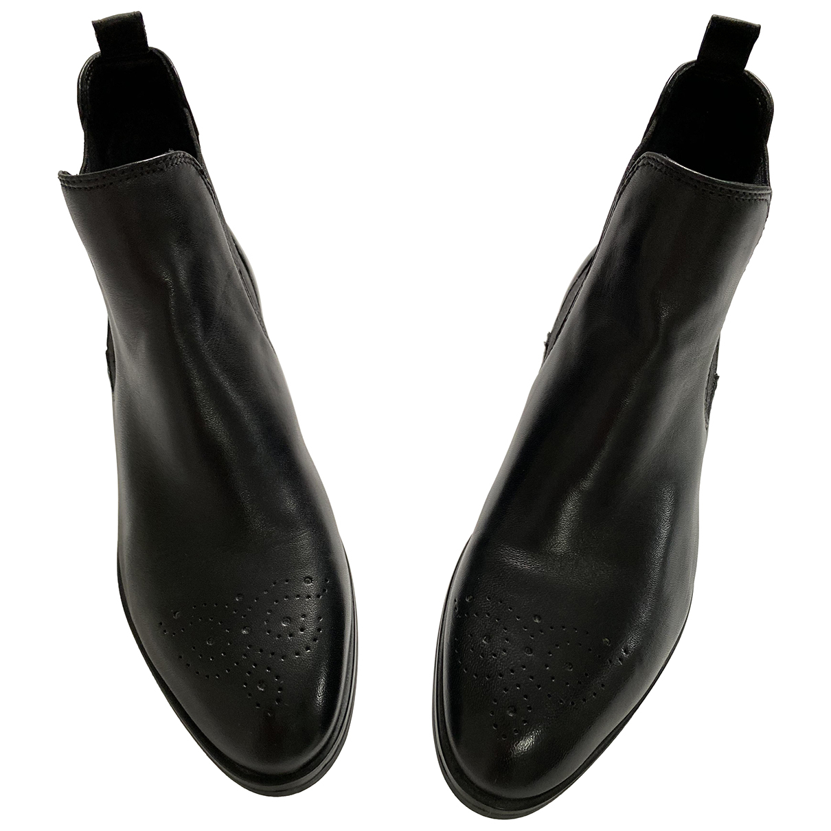 Non Signé / Unsigned \N Black Leather Ankle boots for Women 39 EU