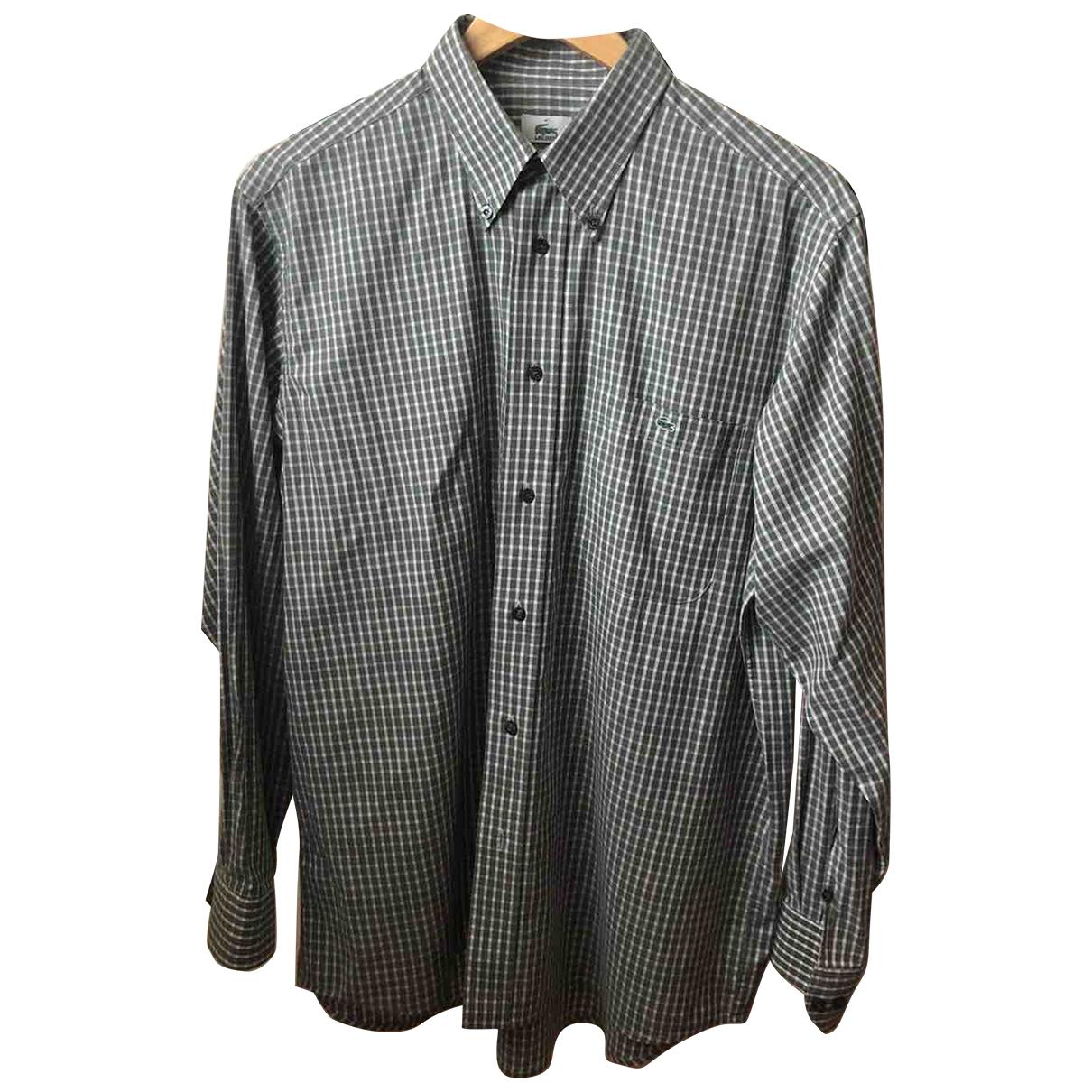Lacoste - Chemises   pour homme en coton - gris