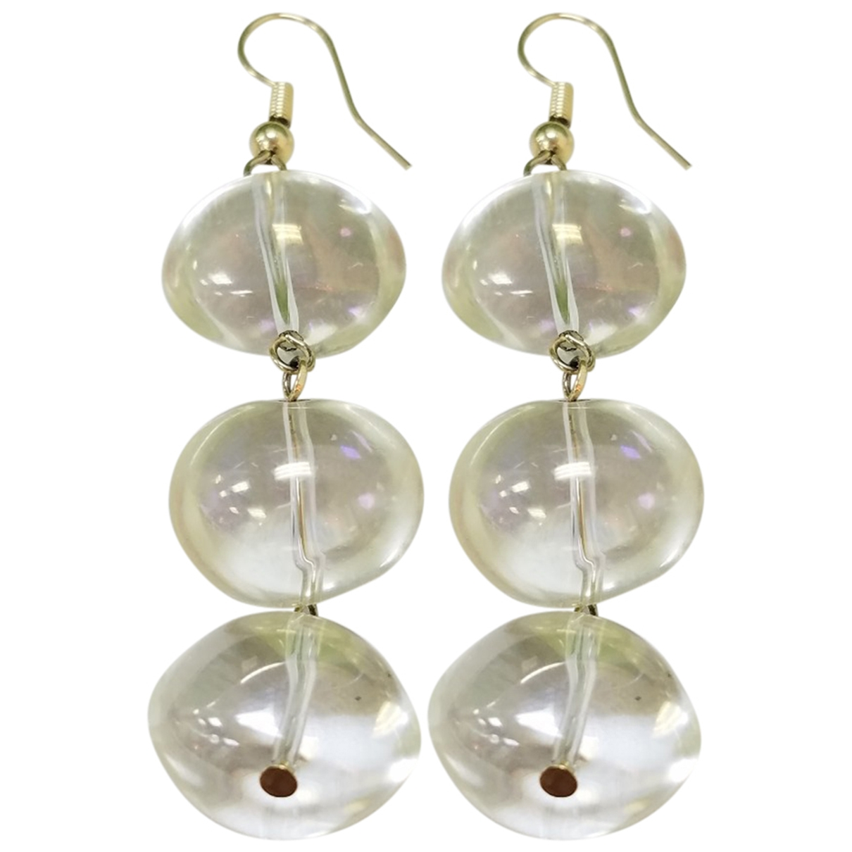 Non Signé / Unsigned \N Glass Earrings for Women \N