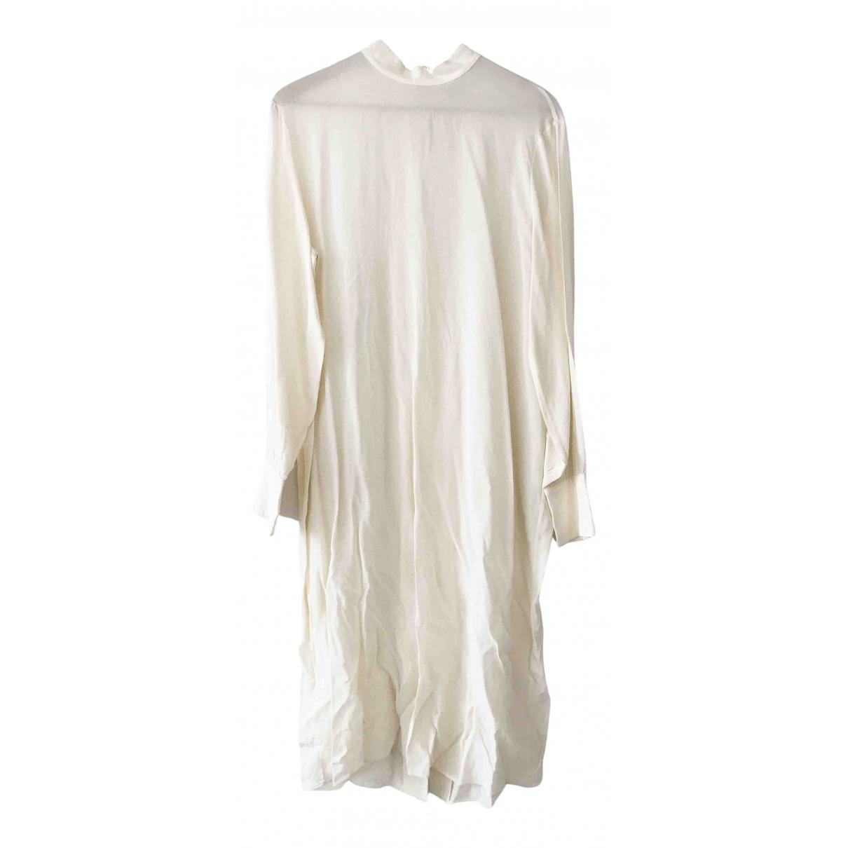 & Other Stories - Robe   pour femme en soie - ecru
