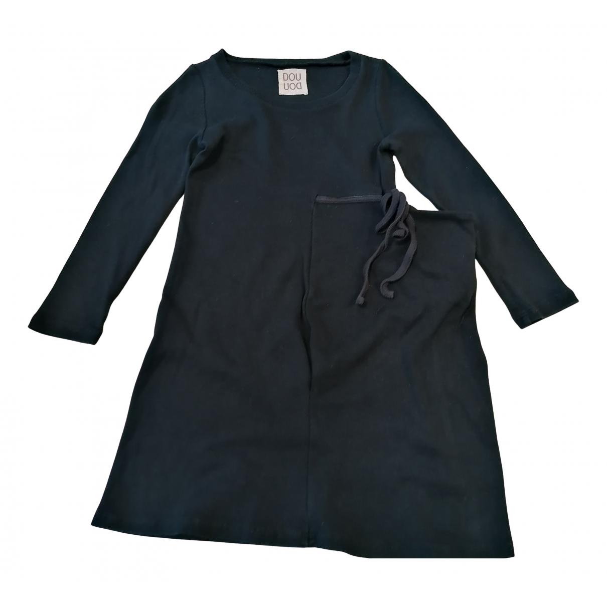 Douuod - Robe    pour enfant en coton - bleu