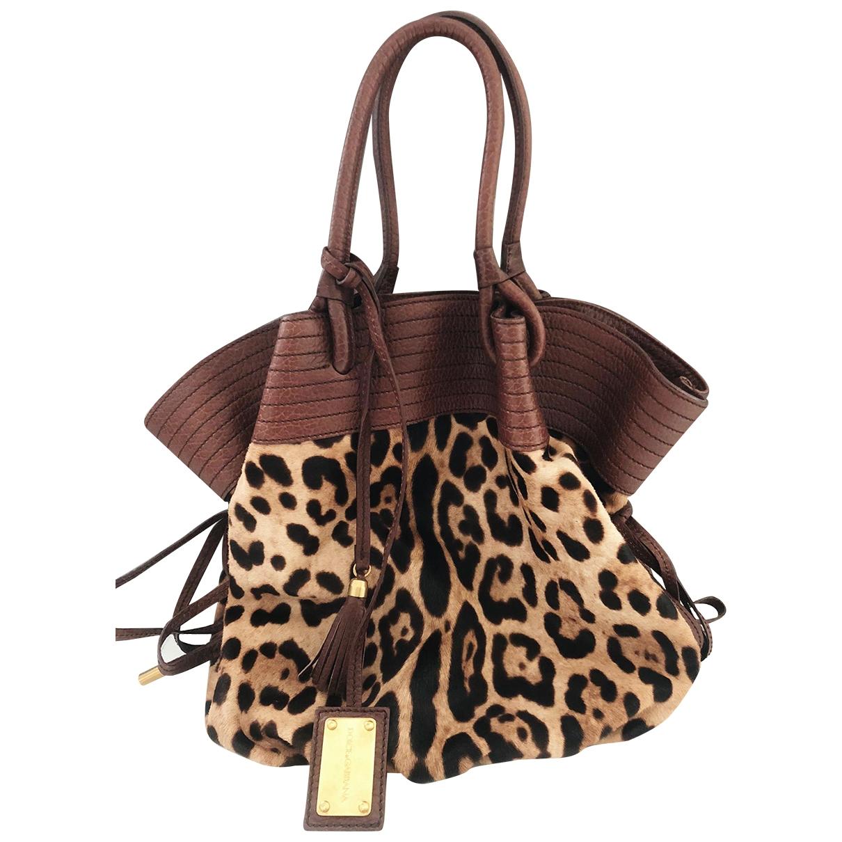 Dolce & Gabbana \N Brown Pony-style calfskin handbag for Women \N