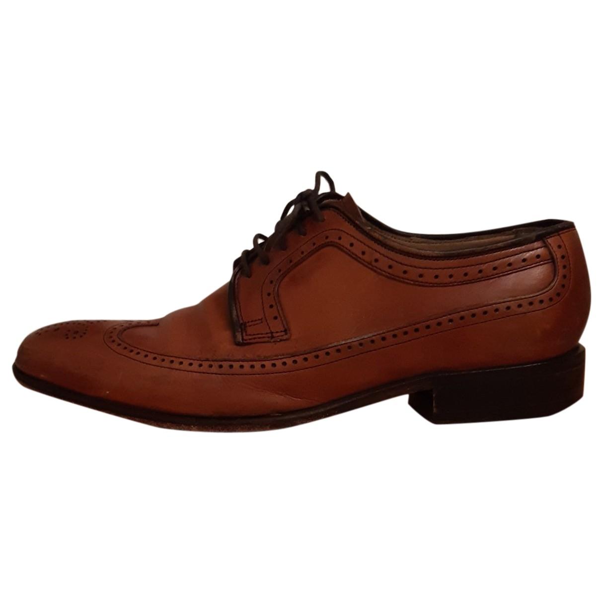Barker N Brown Leather Lace ups for Men 7.5 UK