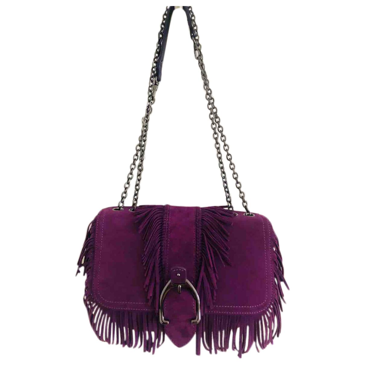 Longchamp \N Purple Leather Clutch bag for Women \N