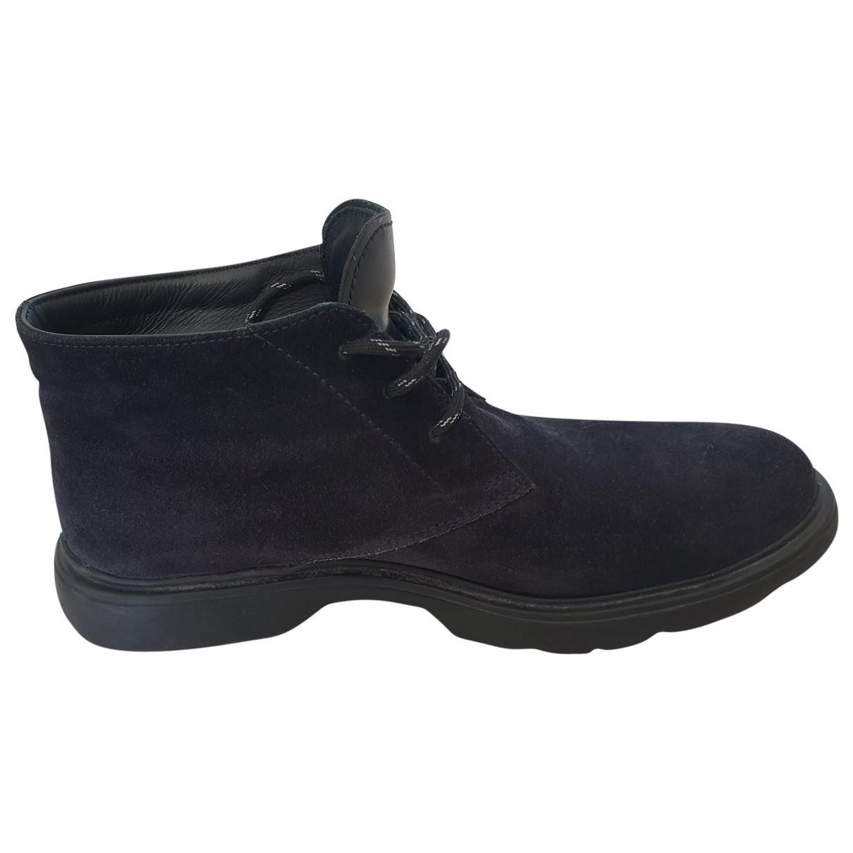 Hogan - Bottes.Boots   pour homme en suede - bleu