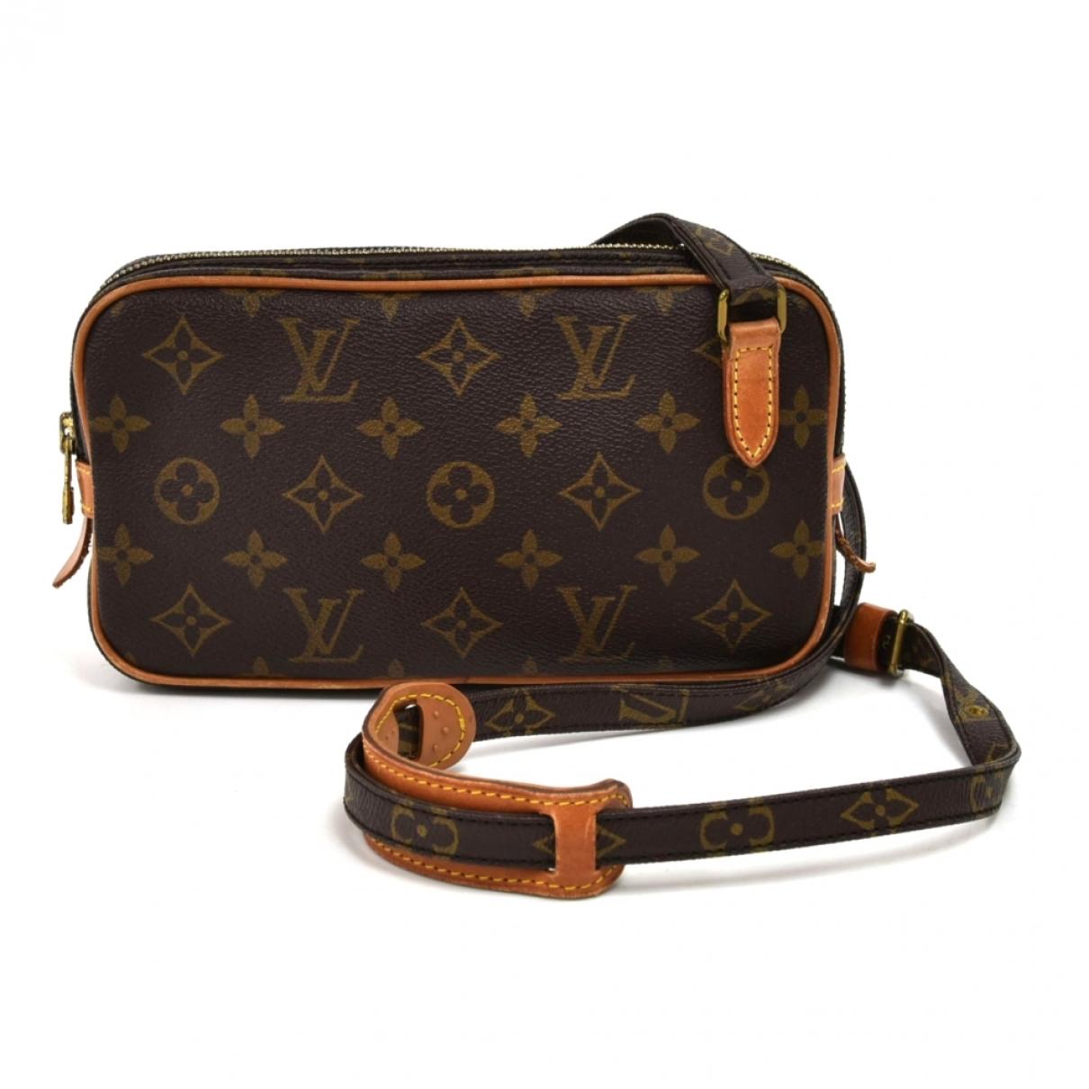 Louis Vuitton Marly vintage Handtasche in  Braun Leinen