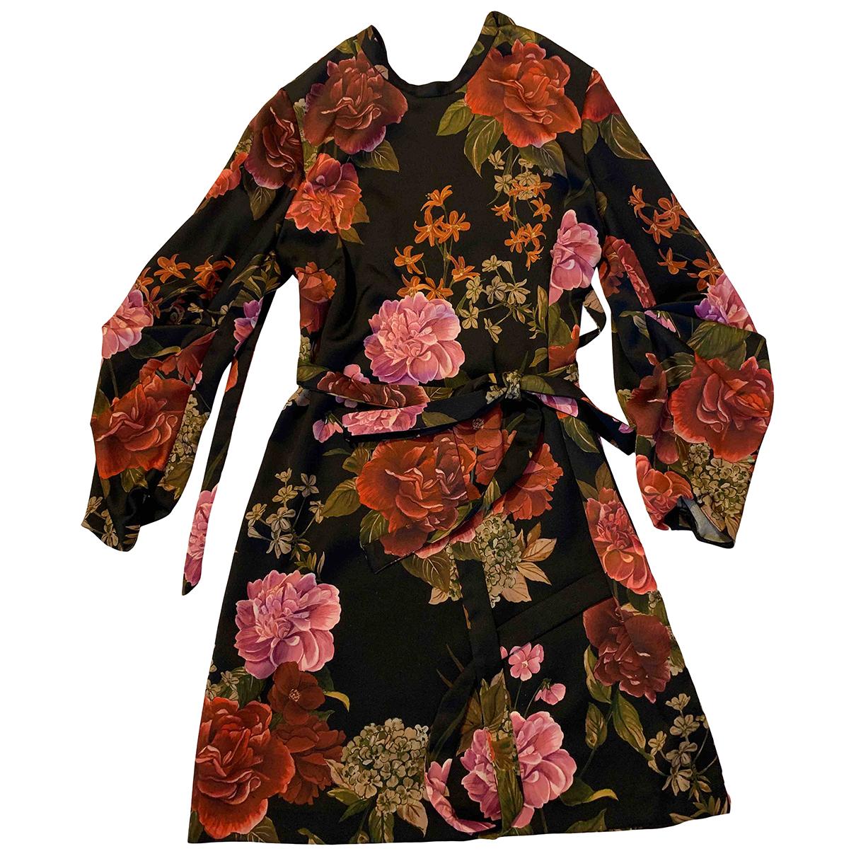 Zara \N Kleid in  Schwarz Polyester
