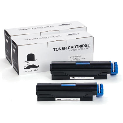 Compatible Okidata 44992405 Black Toner Cartridge - Moustache@ - 2/Pack