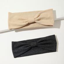 2 Stuecke Kopfband mit Knoten Dekor