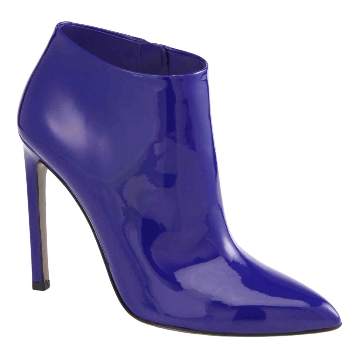Gucci \N Stiefeletten in  Blau Lackleder