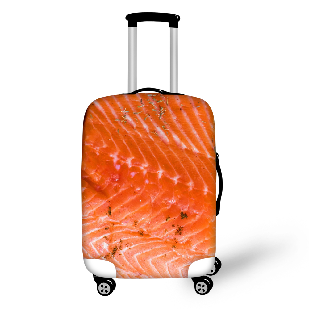 Salmon Meat 18-32 Inch 3D Printed Travel Suitcase Protector Luggage Covers