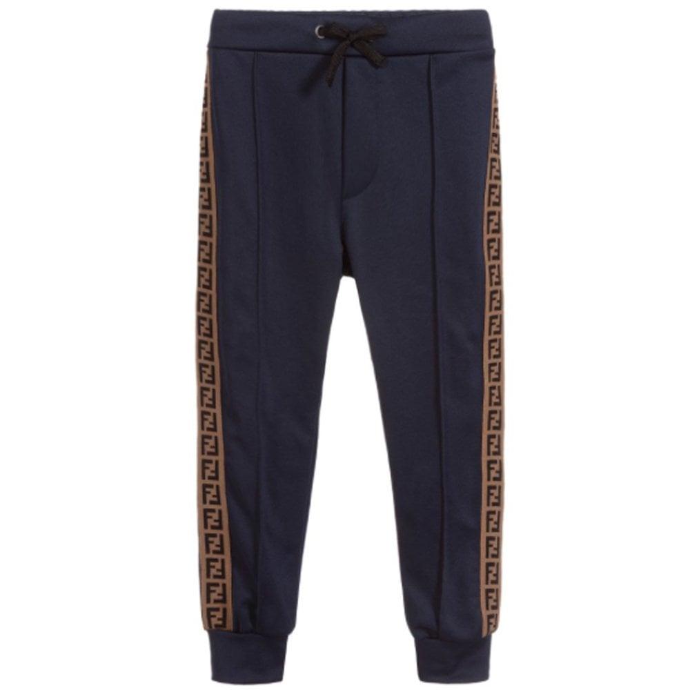 Fendi Kids Logo Sweat Trousers Colour: NAVY, Size: 12+ YEARS