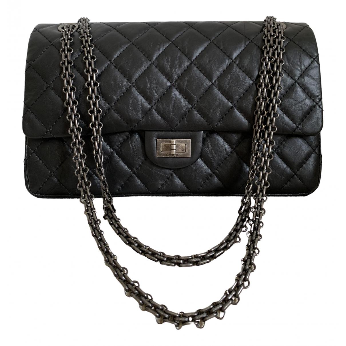 Chanel 2.55 Black Leather handbag for Women \N