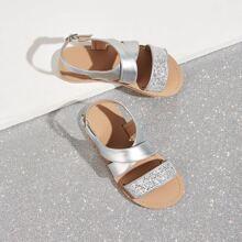 Toddler Girls Cross Strap Slingback Sandals