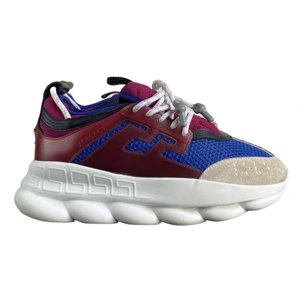 Versace Chain Reaction Burgundy Suede Trainers for Men 40 EU