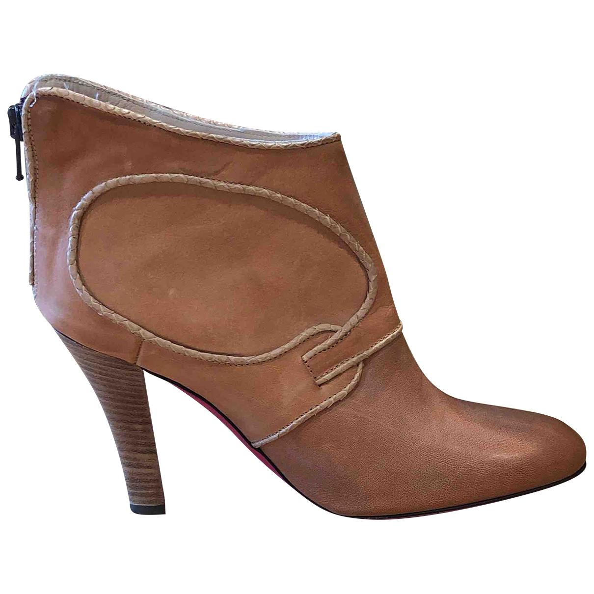 Emanuel Ungaro - Boots   pour femme en cuir - camel