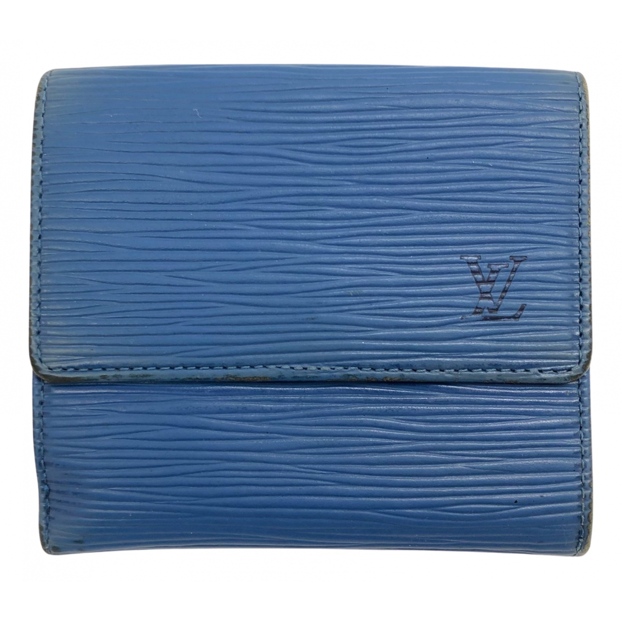 Louis Vuitton \N Portemonnaie in  Blau Leder