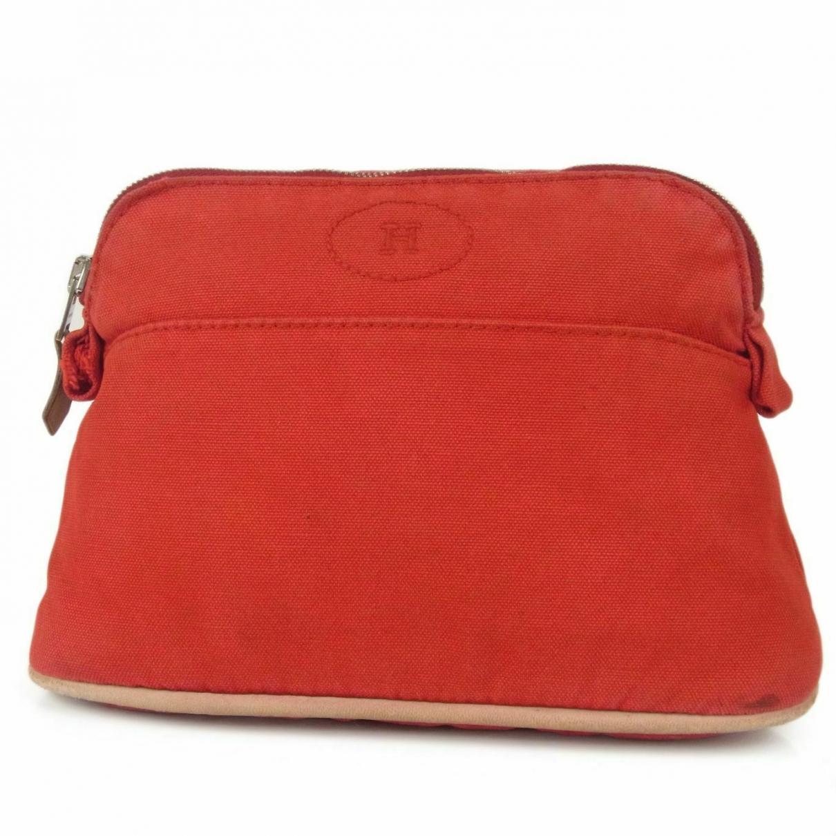 Hermes \N Kleinlederwaren in  Rot Baumwolle