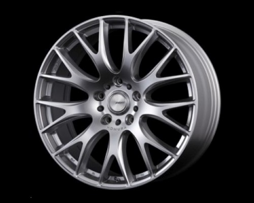 Homura 2X9G Wheel 22x10 5x150 55mm Spark Plated Silver/Rim Edge DMC