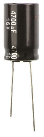 Panasonic 4700μF Electrolytic Capacitor 16V dc, Through Hole - ECA1CHG472 (5)