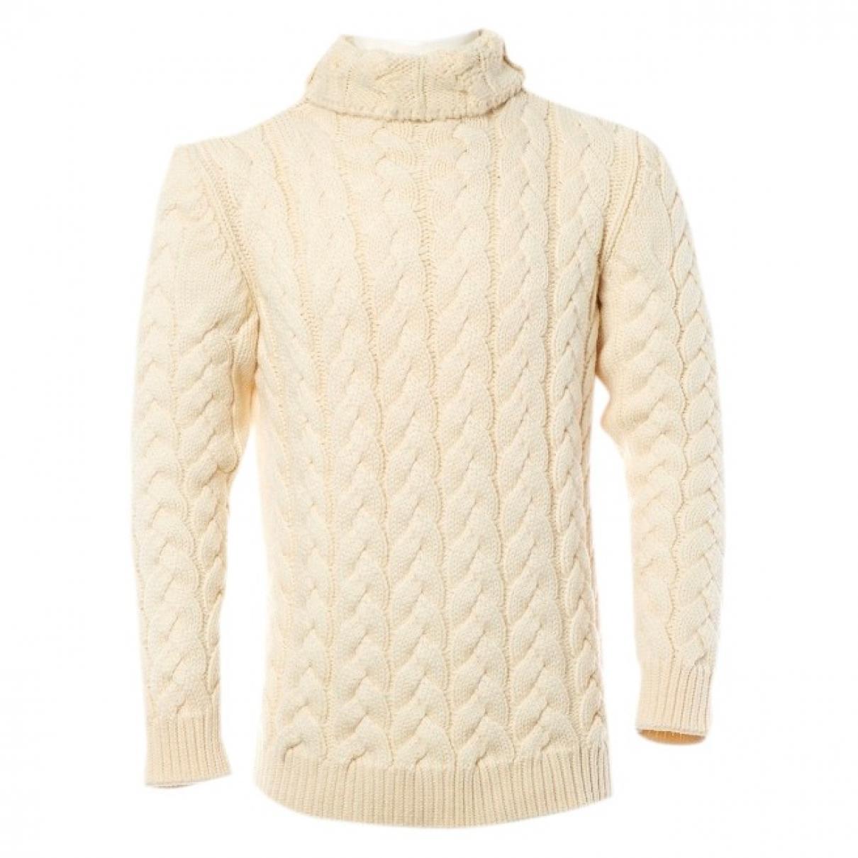 Balmain \N Pullover.Westen.Sweatshirts  in  Ecru Wolle