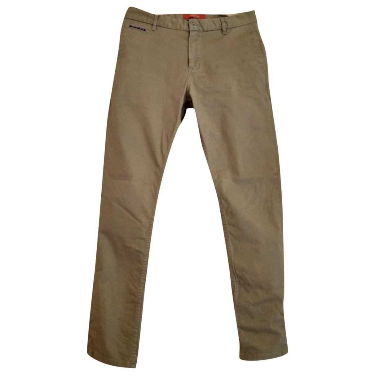 Scotch & Soda \N Beige Cotton Trousers for Men M International