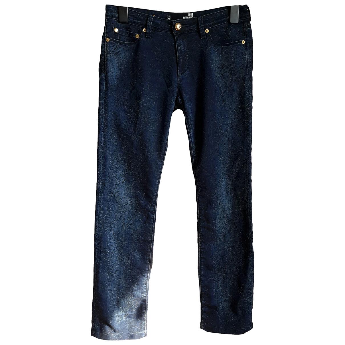 Moschino Love \N Hose in  Blau Denim - Jeans