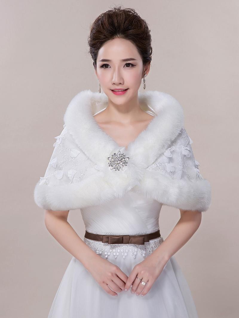 Ericdress Pretty Faux Fur Lace Wedding Wrap
