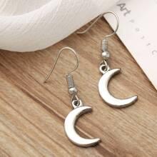 Moon Design Drop Earrings