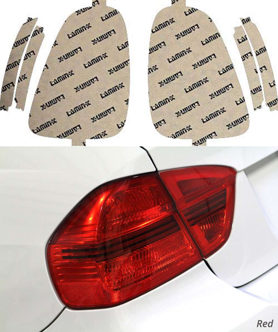 Mini Cooper S 11-13 Red Tail Light Covers Lamin-X MN307-3R