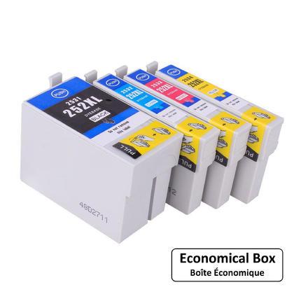 Compatible Epson T252XL cartouche d'encre combo haute capacite BK/C/M/Y - boite economique