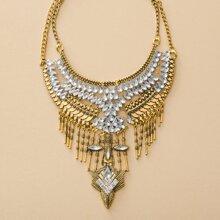 Vintage Halskette mit Strass Dekor
