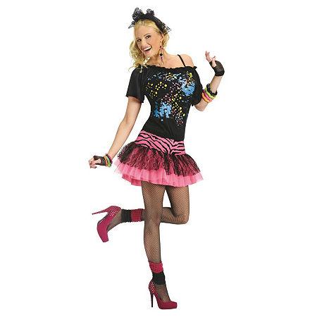 Buyseasons 80s Pop Party Adult Costume, Small-medium , Multiple Colors