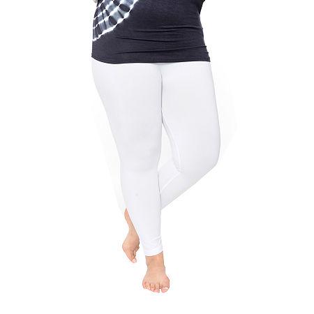 White Mark-Plus Super Stretch Womens Legging, One Size , White