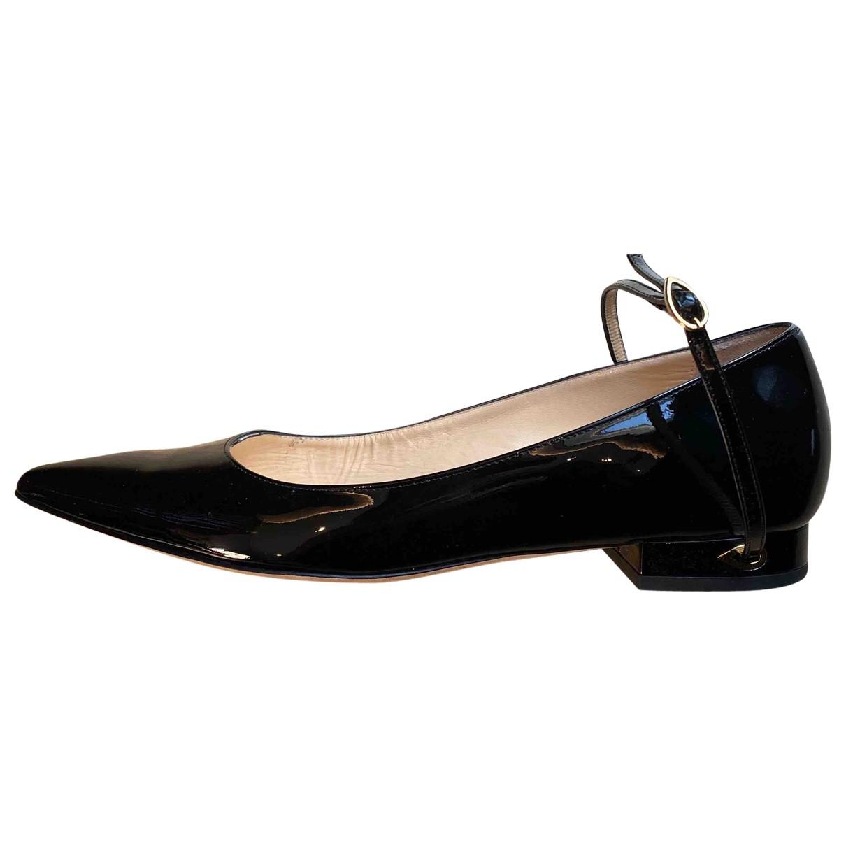 Jennifer Chamandi - Ballerines   pour femme en cuir verni - noir