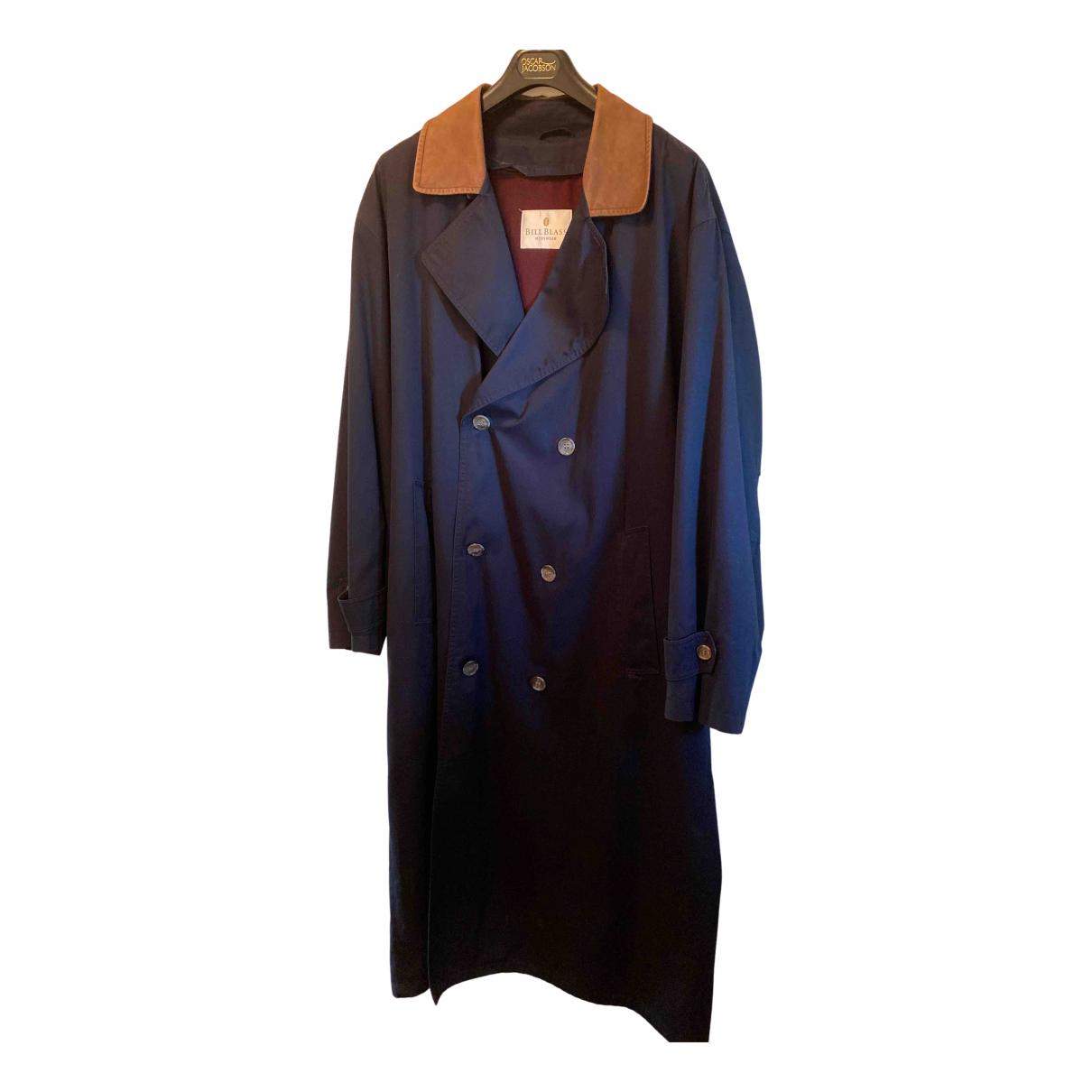 Bill Blass N Blue Cotton coat  for Men XXL International