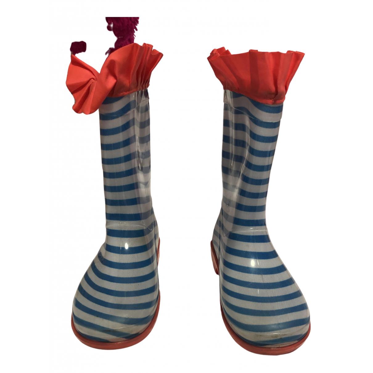 Billieblush - Bottes.Bottines   pour enfant en caoutchouc - bleu