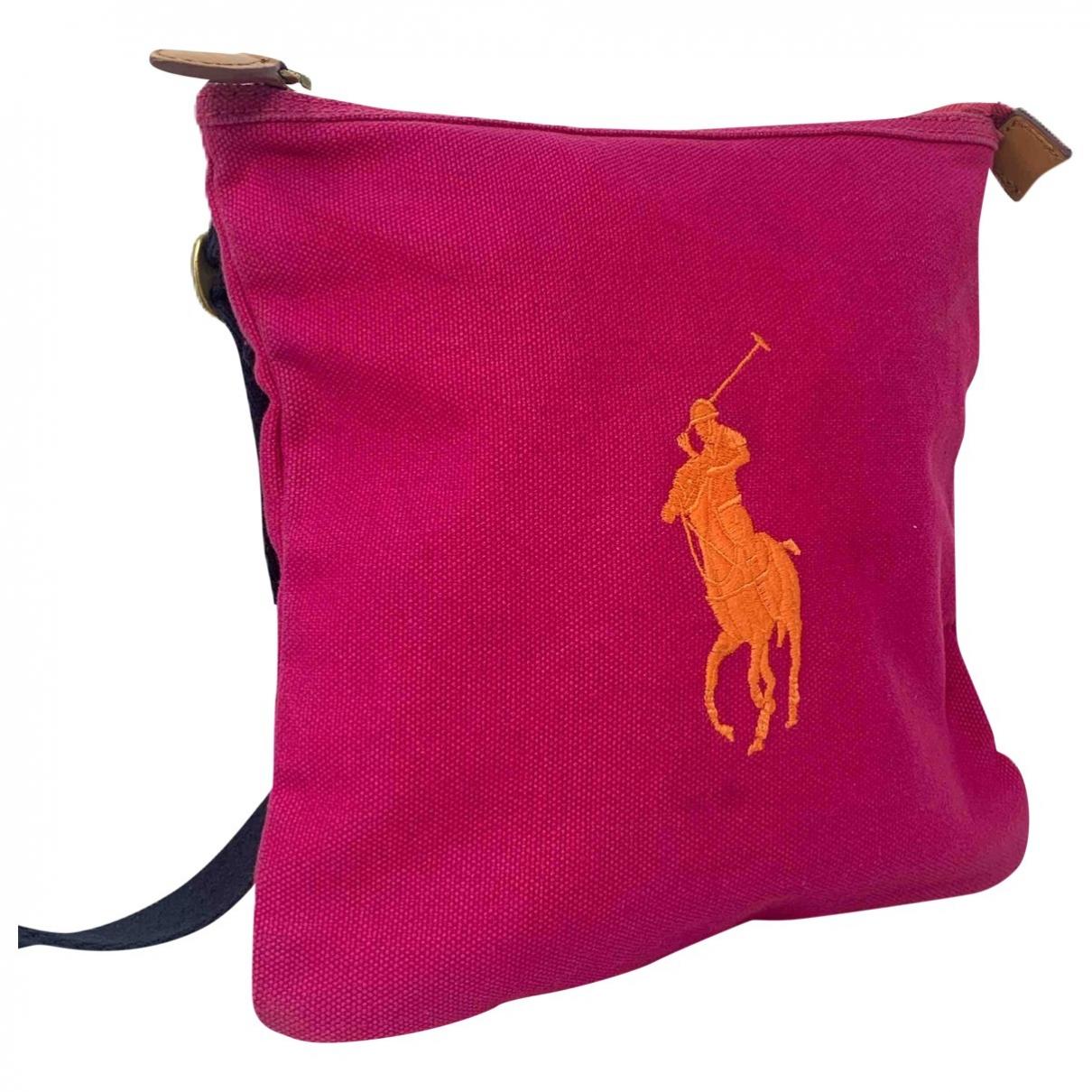 Ralph Lauren - Sac a main   pour femme en coton - rose