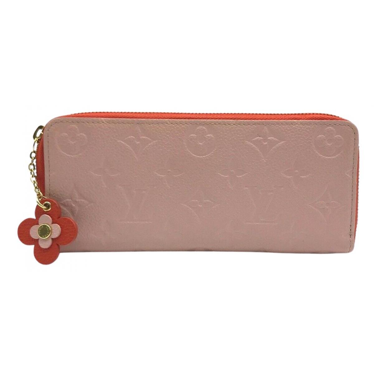 Louis Vuitton Clemence Portemonnaie in  Rosa Leder