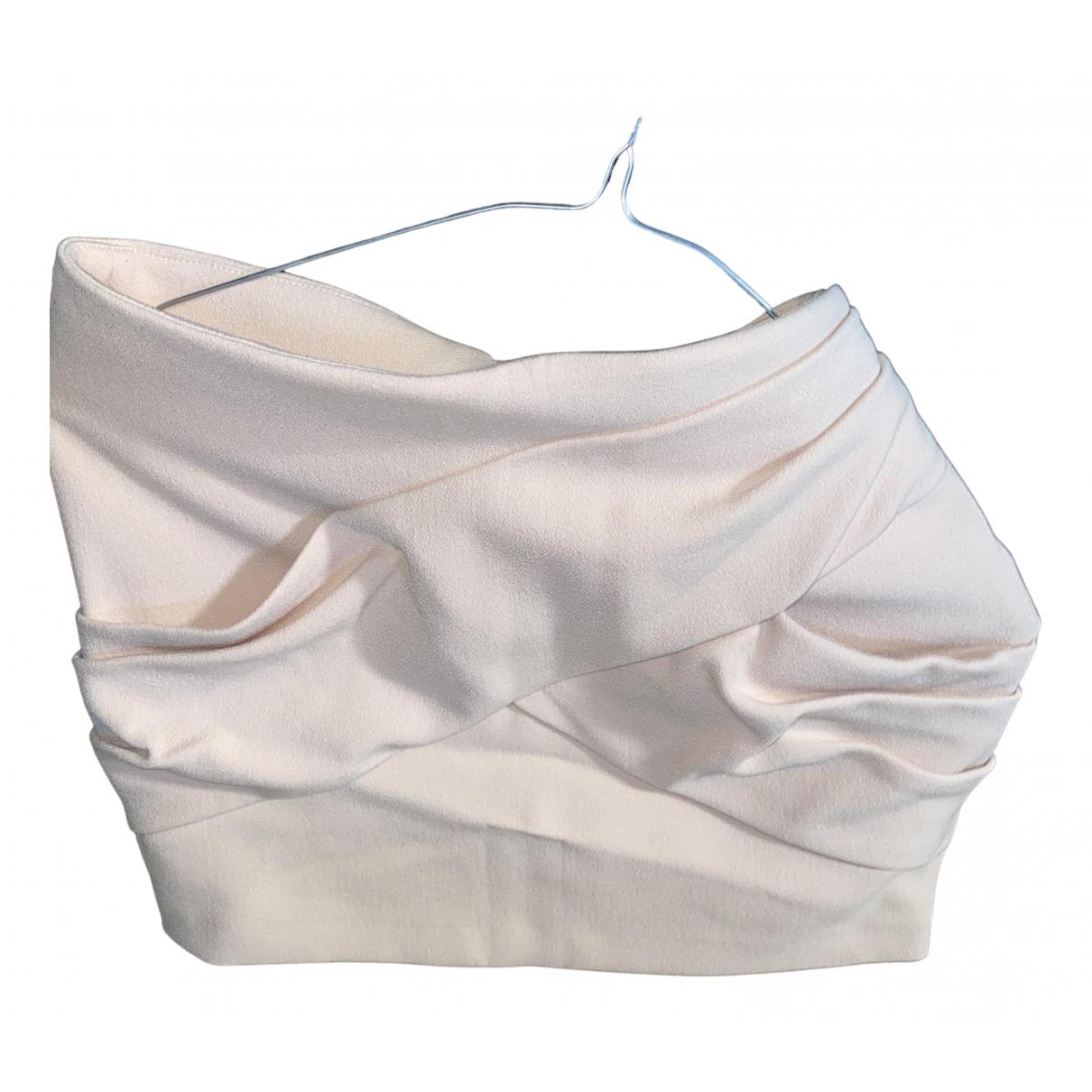 Maje N Pink Cotton skirt for Women 34 FR