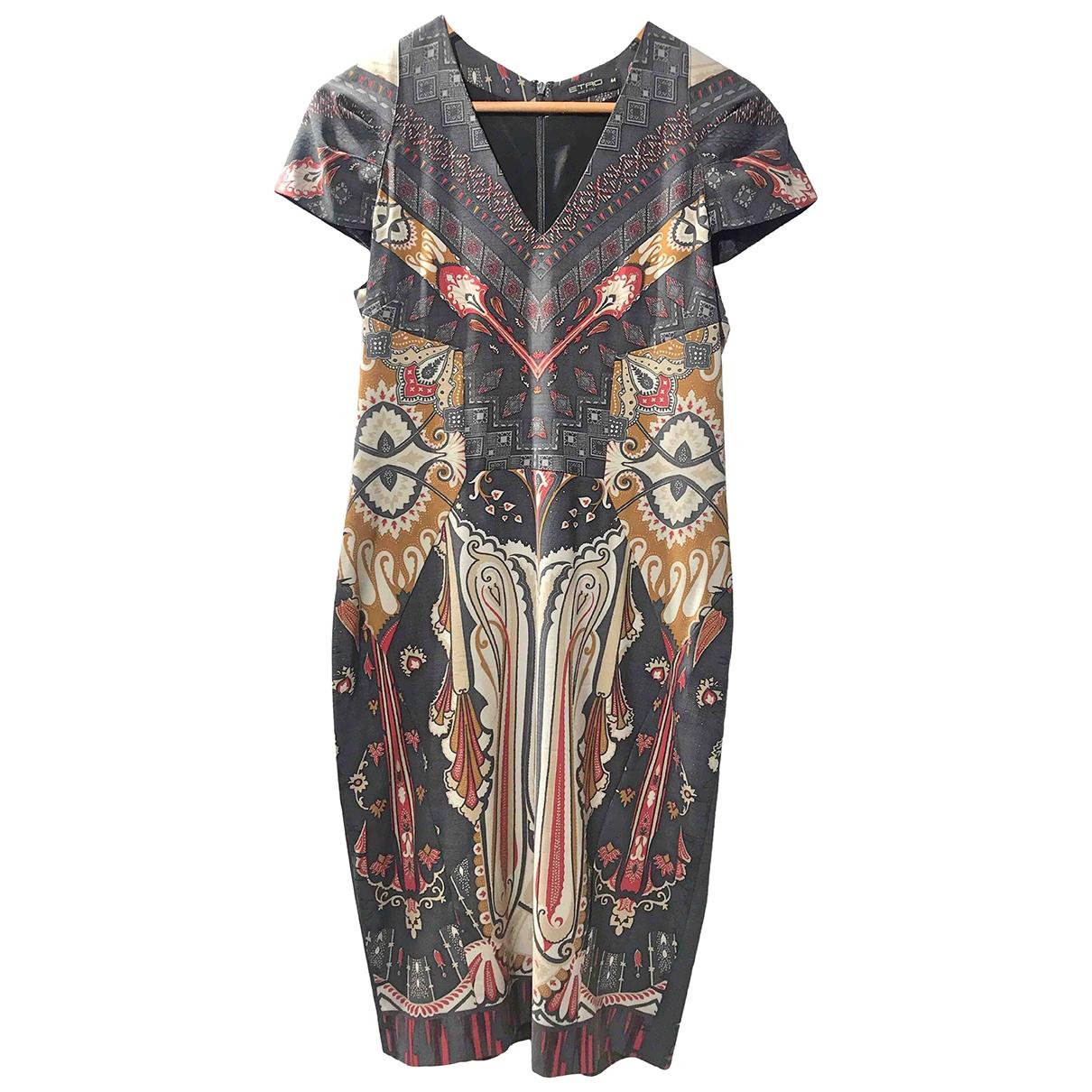 Etro \N Kleid in  Anthrazit Polyester