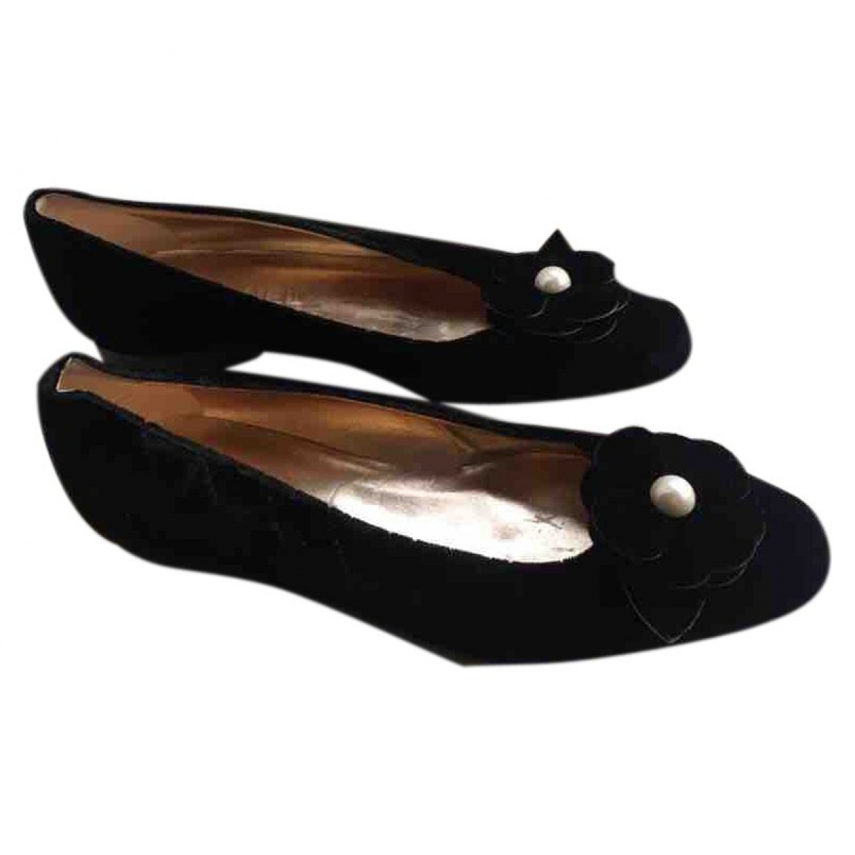 Chanel \N Black Velvet Ballet flats for Women 37 EU