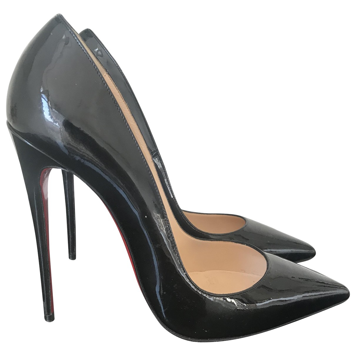 Christian Louboutin So Kate  Black Patent leather Heels for Women 39 IT