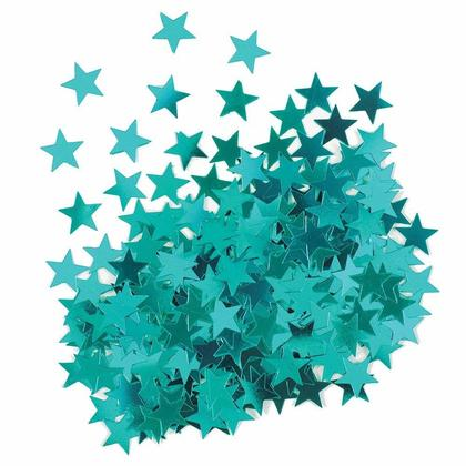 Metallic Teal Foil Star Sequin Table Confetti for Party Decoration, 0.5oz