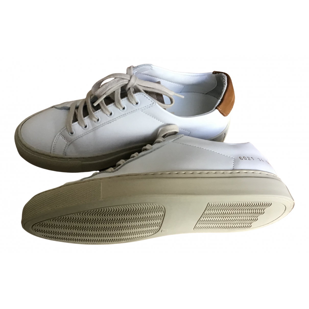 Common Projects N White Leather Trainers for Women 34 EU