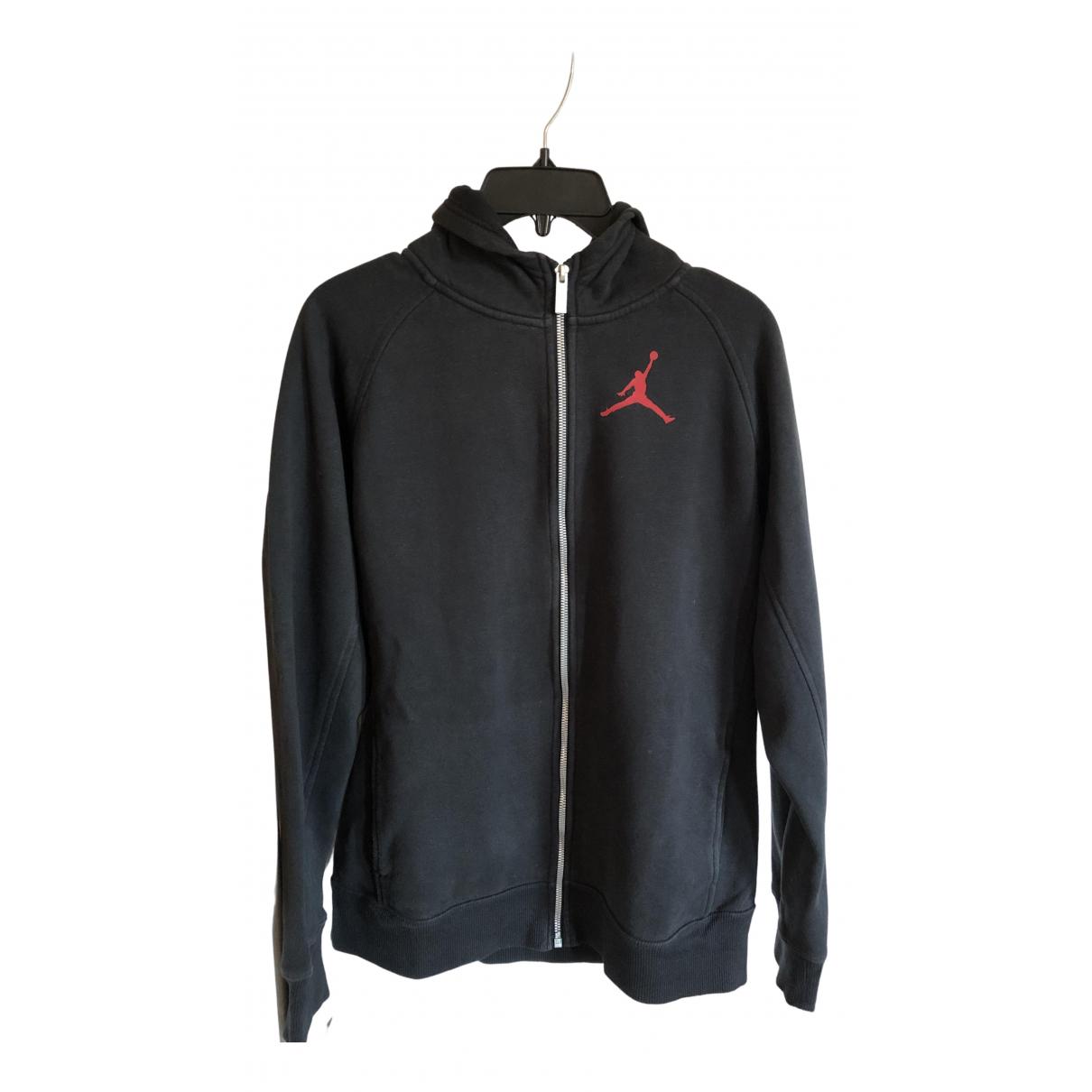 Jordan - Pull   pour enfant en coton - noir