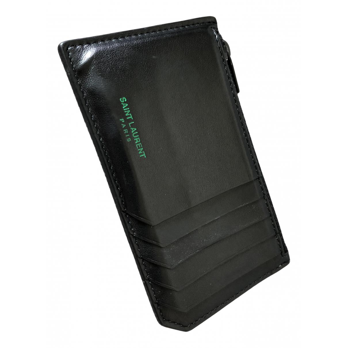 Saint Laurent N Black Leather Purses, wallet & cases for Women N