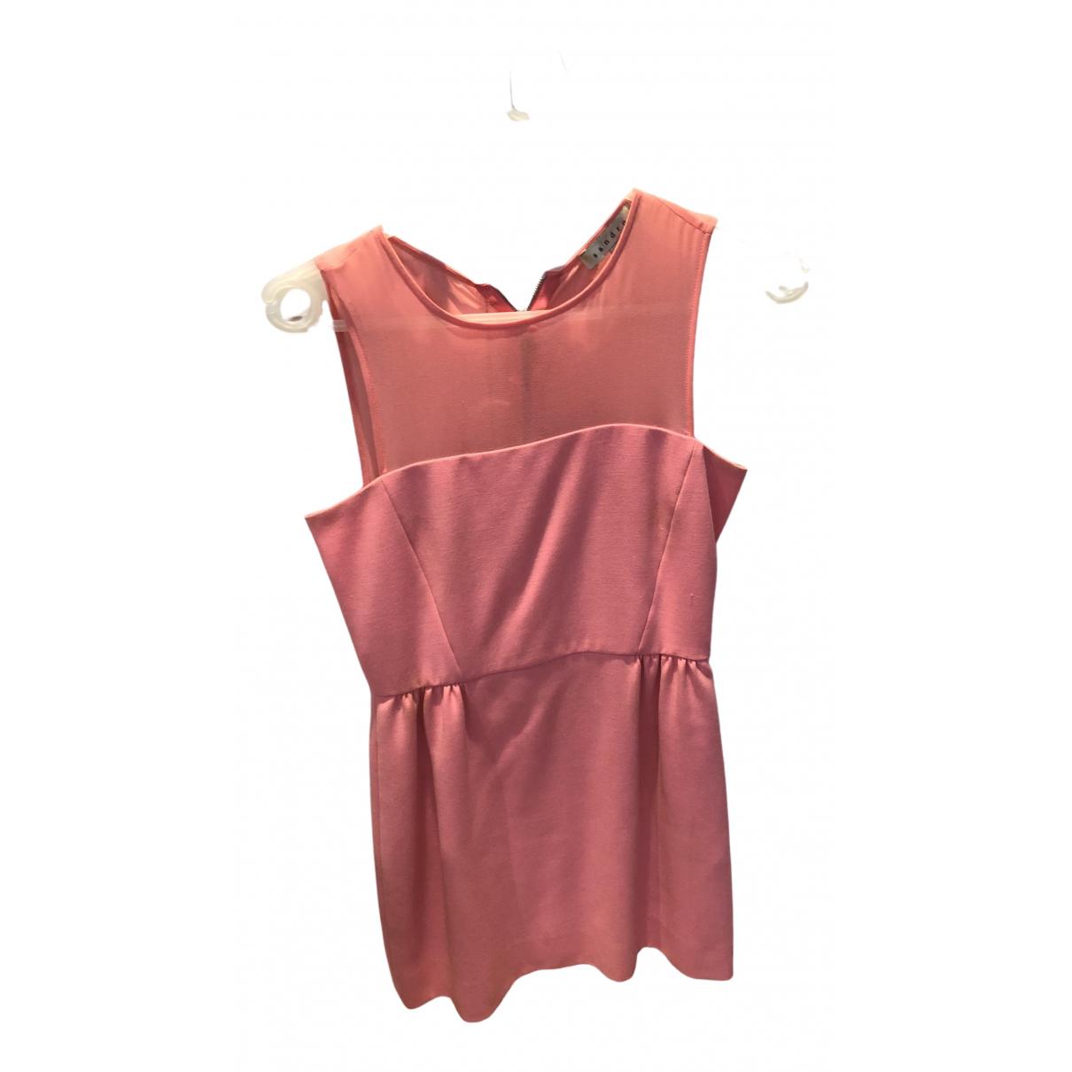 Sandro \N Kleid in  Rosa Viskose