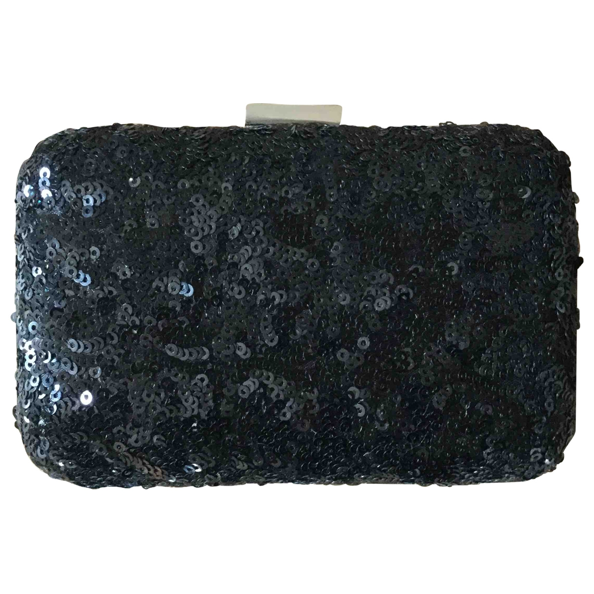Non Signé / Unsigned \N Black Glitter Clutch bag for Women \N