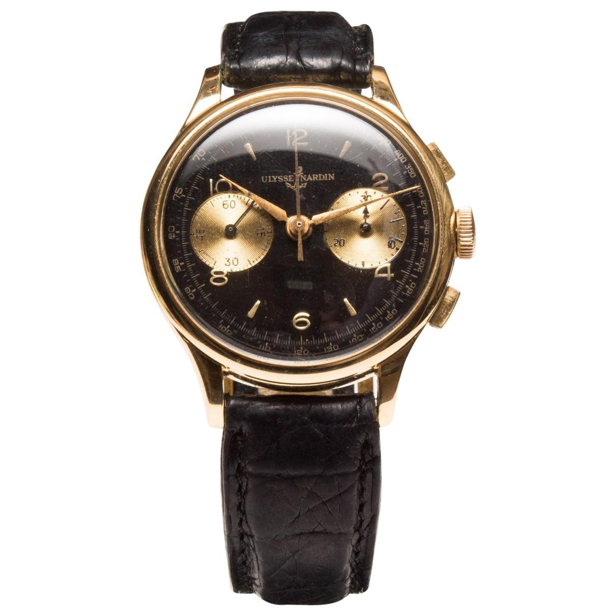Ulysse Nardin \N Uhr in  Schwarz Gelbgold